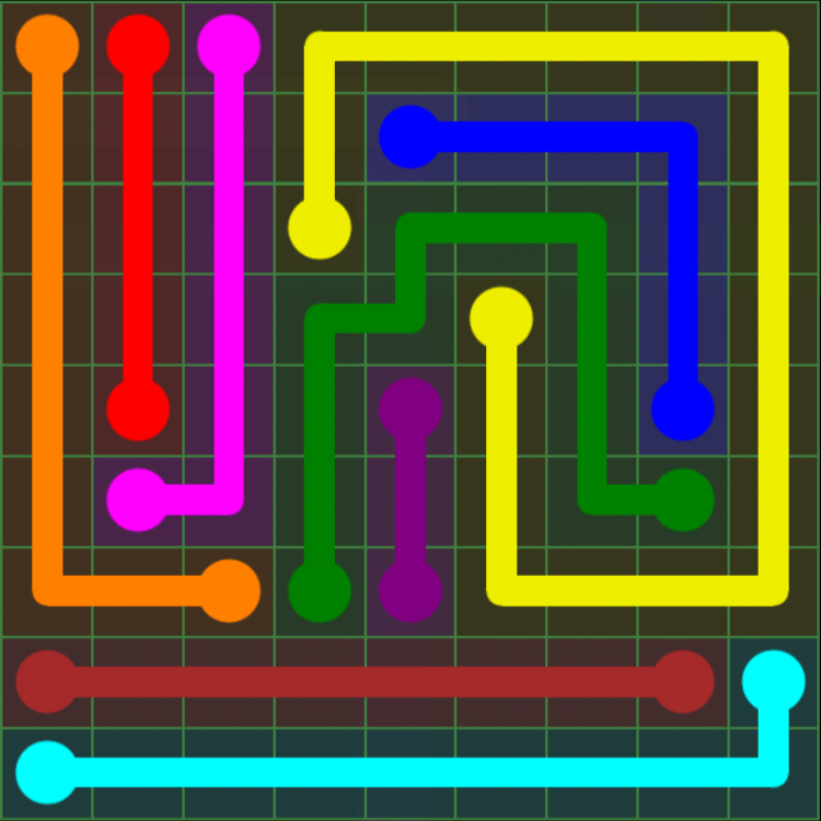 Flow Free - Green Pack - 9x9 Hard - Level 17 / Puzzle Game App Solutions / Give Me The Answer