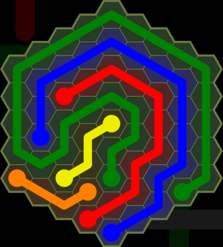 Flow Free - Hexes Sampler - 9x9 Hard - Level 142 / Puzzle Game App Solutions / Give Me The Answer