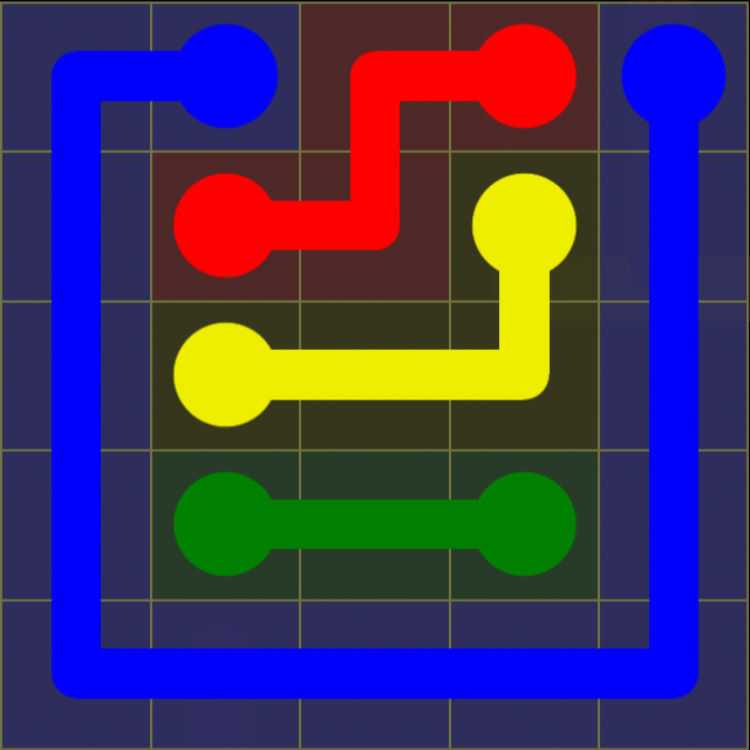 Flow Free - Kids Pack - 5x5 - Level 16 / Puzzle Game App Solutions / Give Me The Answer