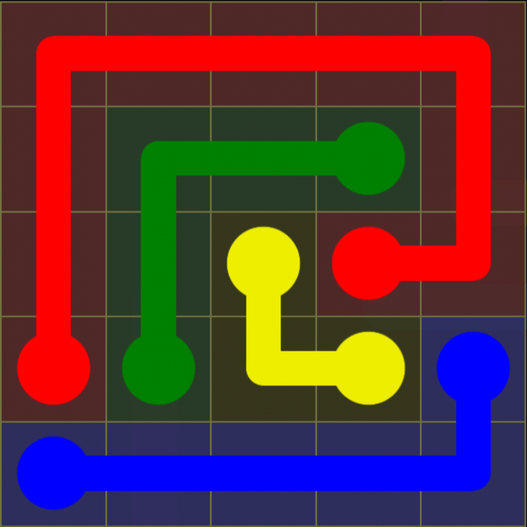 Flow Free - Kids Pack - 5x5 - Level 17 / Puzzle Game App Solutions / Give Me The Answer