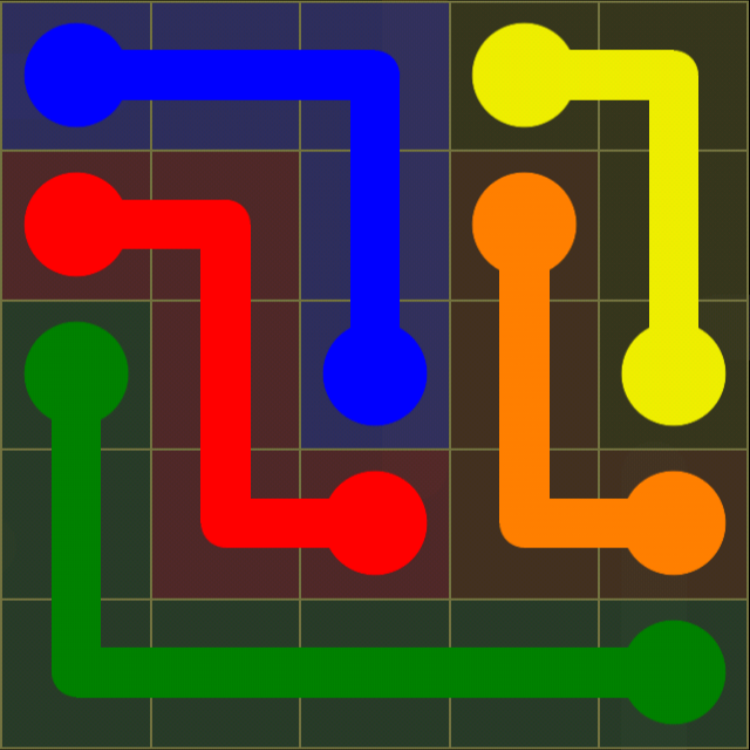 Flow Free - Kids Pack - 5x5 - Level 42 / Puzzle Game App Solutions / Give Me The Answer