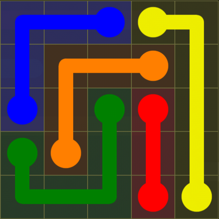 Flow Free - Kids Pack - 5x5 - Level 5 / Puzzle Game App Solutions / Give Me The Answer
