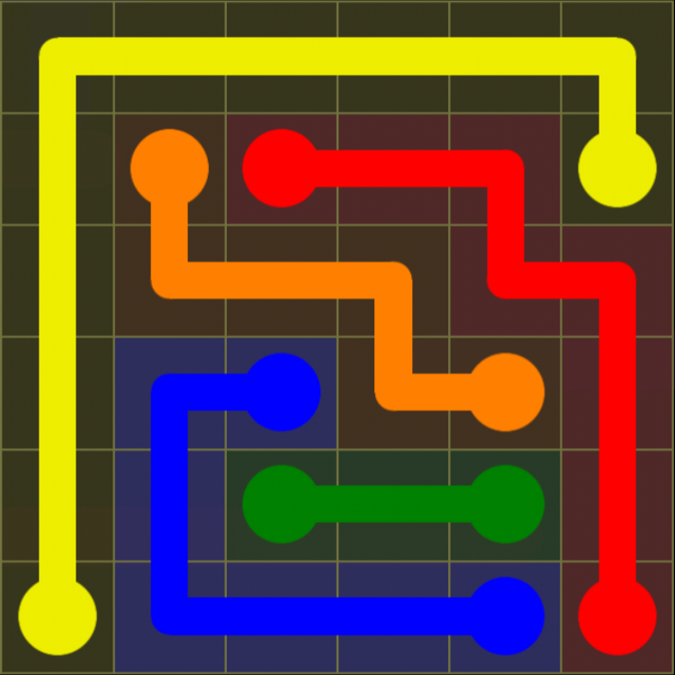 Flow Free - Kids Pack - 6x6 - Level 5 / Puzzle Game App Solutions / Give Me The Answer