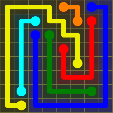 Flow Free - Regular Pack - 8x8 - Level 22 / Puzzle Game App Solutions / Give Me The Answer