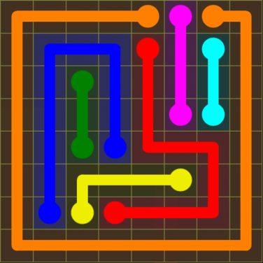 Flow Free - Regular Pack - 8x8 - Level 30 / Puzzle Game App Solutions / Give Me The Answer