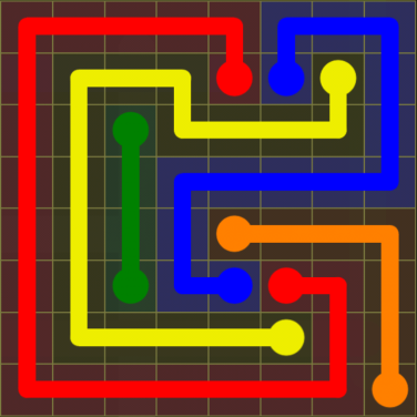 Flow Free - Regular Pack - 8x8 - Level 7 / Puzzle Game App Solutions / Give Me The Answer