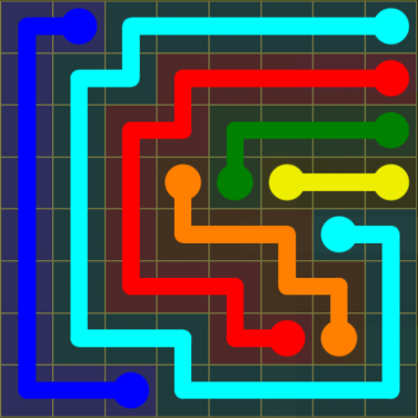 Flow Free - Regular Pack - 8x8 - Level 9 / Puzzle Game App Solutions / Give Me The Answer