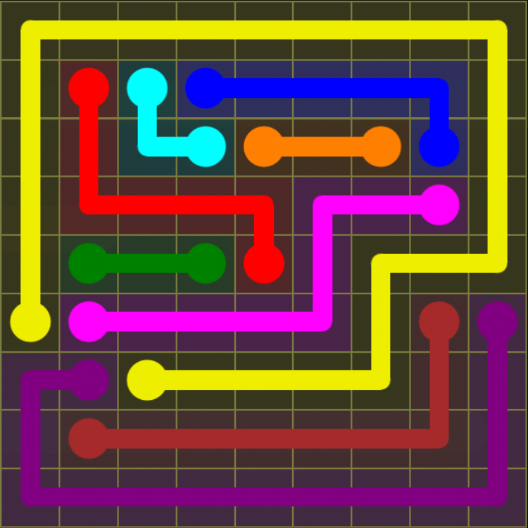 Flow Free - Regular Pack - 9x9 Hard - Level 1 / Puzzle Game App Solutions / Give Me The Answer