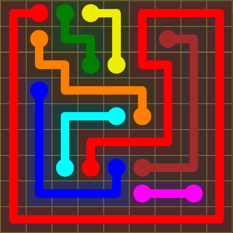 Flow Free - Regular Pack - 9x9 Hard - Level 12 / Puzzle Game App Solutions / Give Me The Answer
