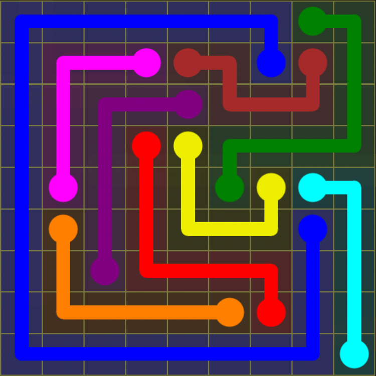 Flow Free - Regular Pack - 9x9 Hard - Level 19 / Puzzle Game App Solutions / Give Me The Answer