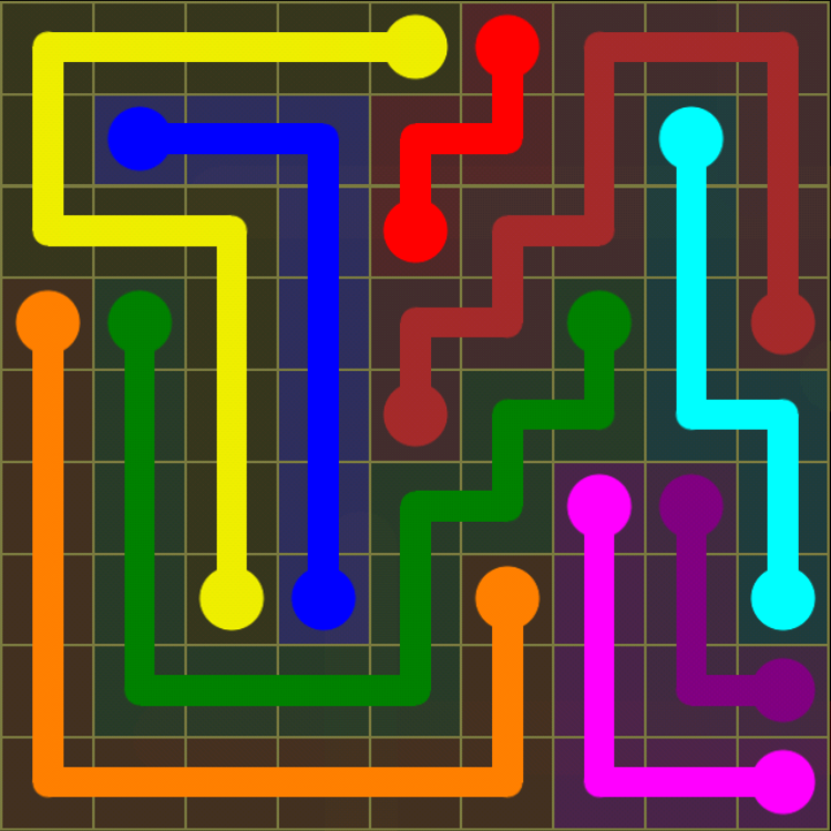 Flow Free - Regular Pack - 9x9 Hard - Level 20 / Puzzle Game App Solutions / Give Me The Answer