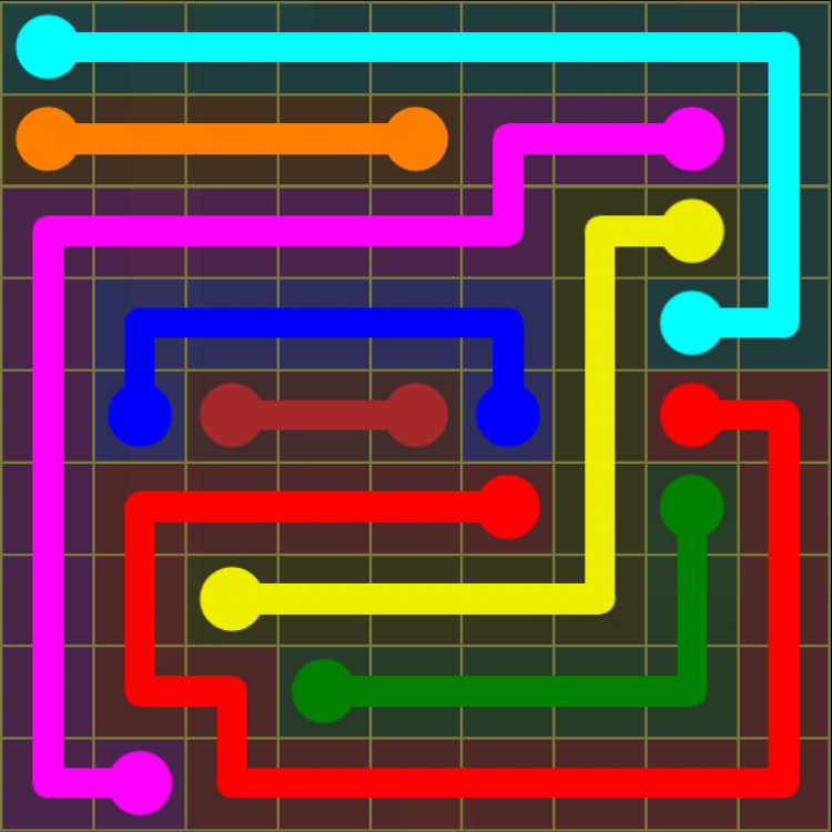 Flow Free - Regular Pack - 9x9 Hard - Level 29 / Puzzle Game App Solutions / Give Me The Answer