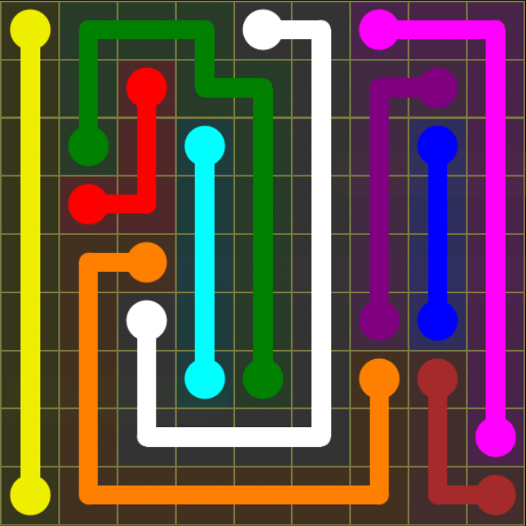 Flow Free - Regular Pack - 9x9 Hard - Level 7 / Puzzle Game App Solutions / Give Me The Answer