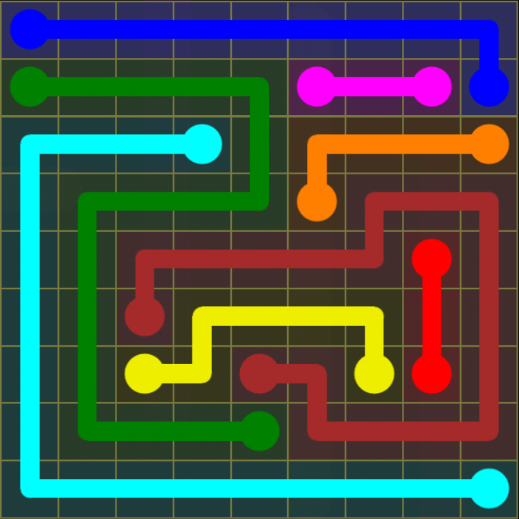 Flow Free - Regular Pack - 9x9 Hard - Level 8 / Puzzle Game App Solutions / Give Me The Answer