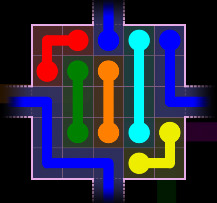 Flow Free - Warps Sampler - 2 Warps - Level 34 / Puzzle Game App Solutions / Give Me The Answer