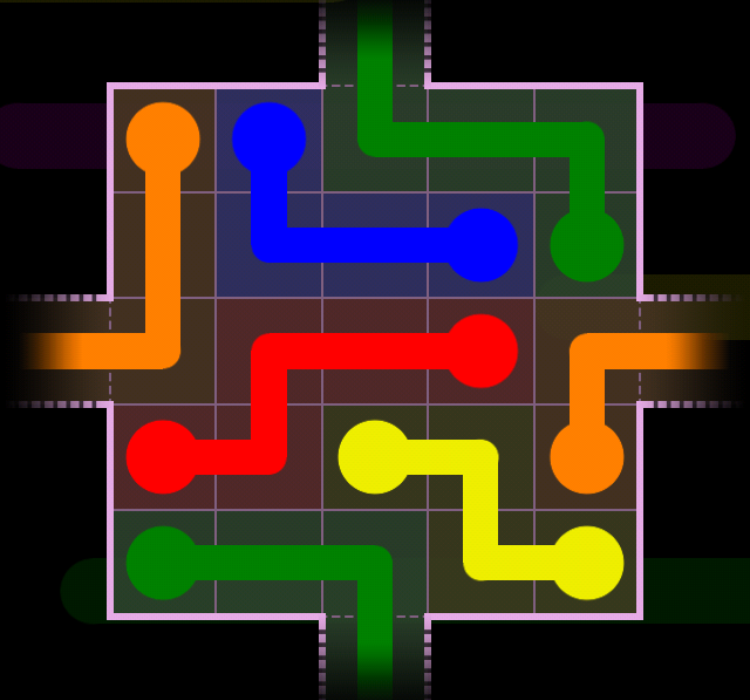 Flow Free - Warps Sampler - 2 Warps - Level 42 / Puzzle Game App Solutions / Give Me The Answer