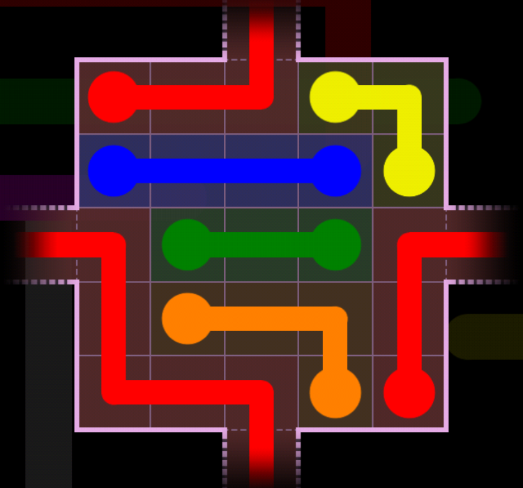 Flow Free - Warps Sampler - 2 Warps - Level 54 / Puzzle Game App Solutions / Give Me The Answer