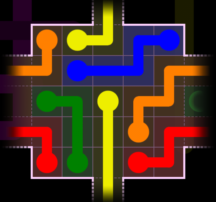 Flow Free - Warps Sampler - 4 Warps - Level 102 / Puzzle Game App Solutions / Give Me The Answer