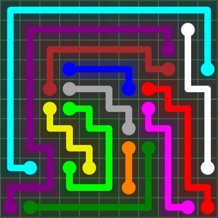 Flow Free – 11×11 Mania – Levels 121-150 – Level 147