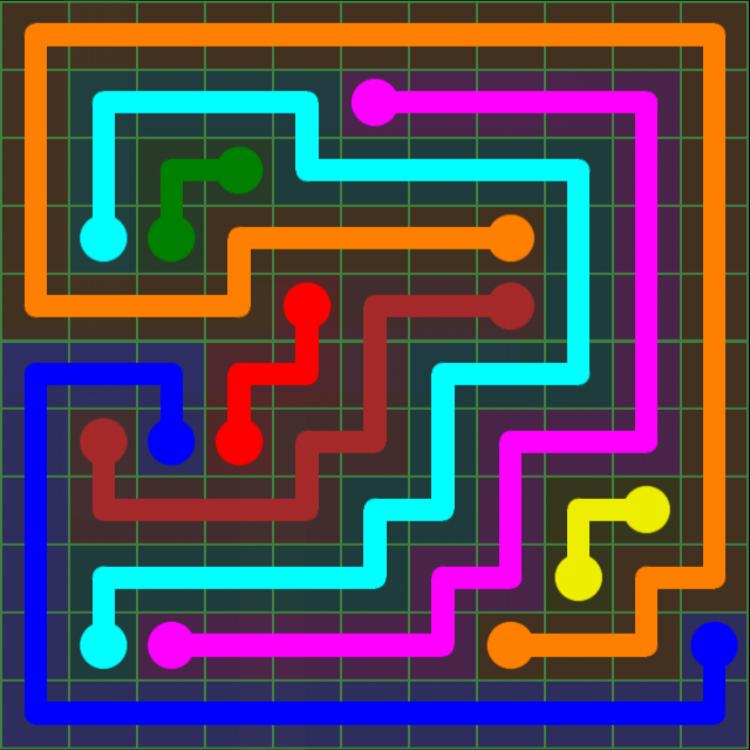 Flow Free – 11×11 Mania – Levels 31-60 – Level 52