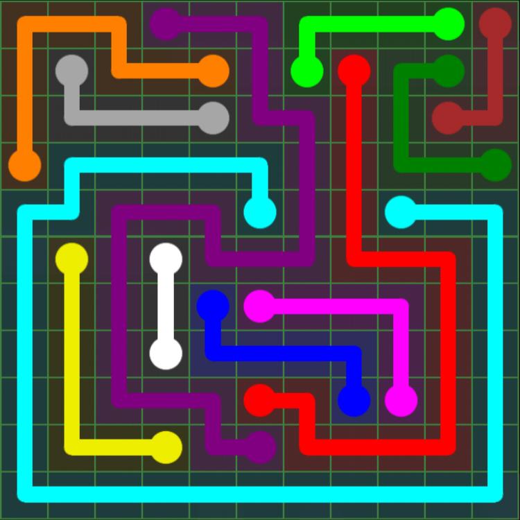 Flow Free – 11×11 Mania – Levels 31-60 – Level 53