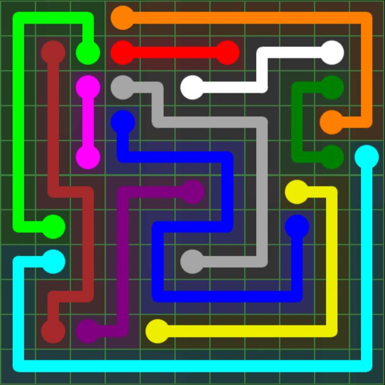 Flow Free – 11×11 Mania – Levels 31-60 – Level 54