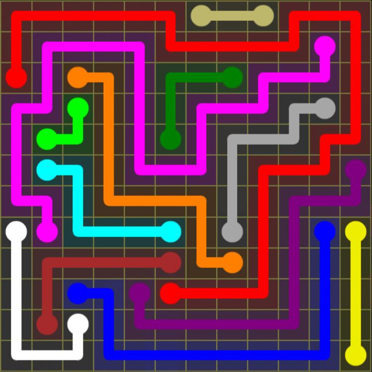 Flow Free – 12×12 Mania – Levels 1-30 – Level 22