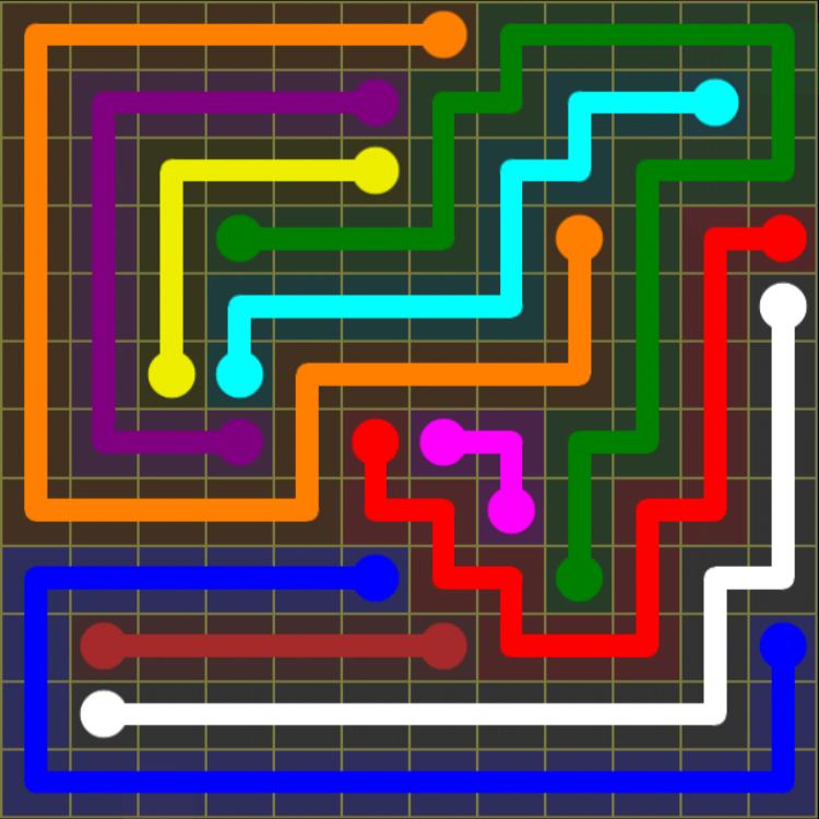 Flow Free – 12×12 Mania – Levels 1-30 – Level 28