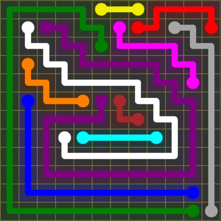 Flow Free – 12×12 Mania – Levels 1-30 – Level 30