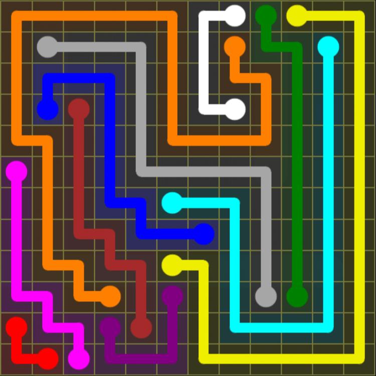 Flow Free – 12×12 Mania – Levels 1-30 – Level 9