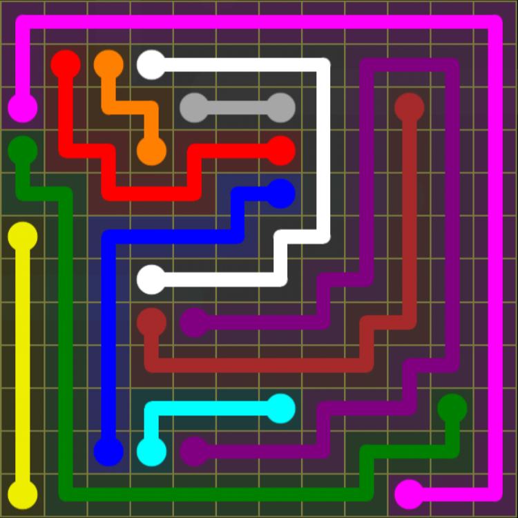 Flow Free – 12×12 Mania – Levels 121-150 – Level 137