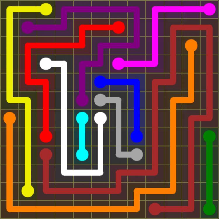 Flow Free – 12×12 Mania – Levels 121-150 – Level 147