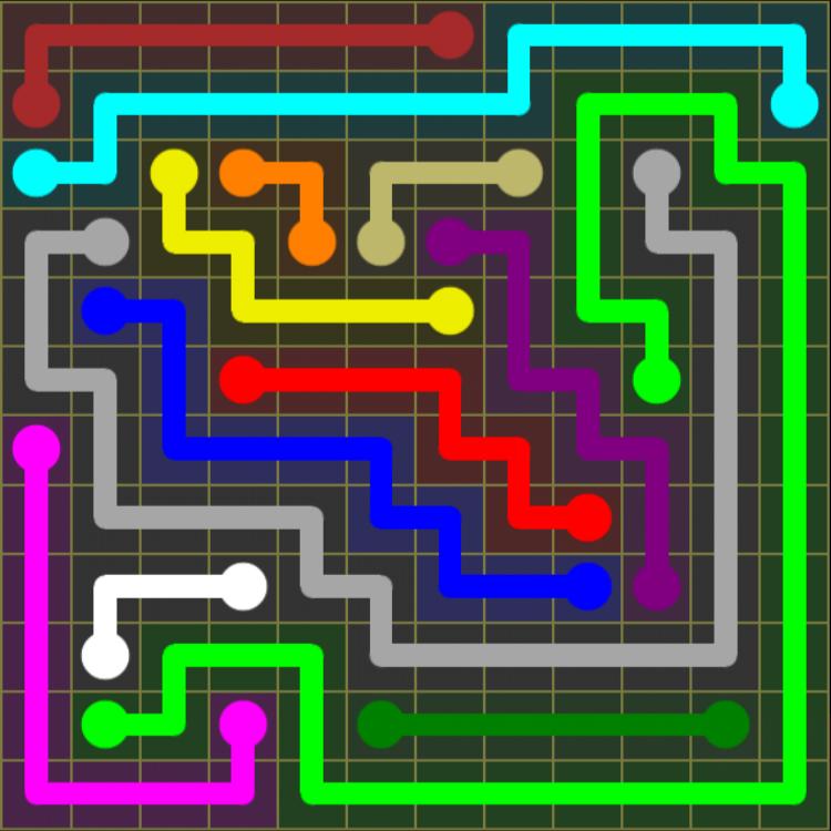 Flow Free – 12×12 Mania – Levels 121-150 – Level 148