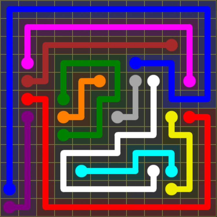 Flow Free – 12×12 Mania – Levels 91-120 – Level 97