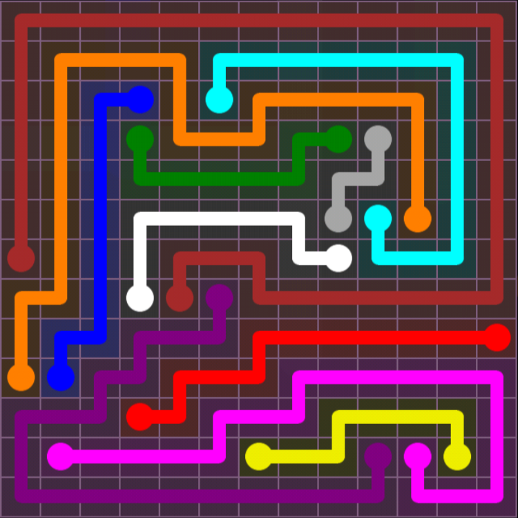Flow Free – 13×13 Mania – Levels 121-150 – Level 143