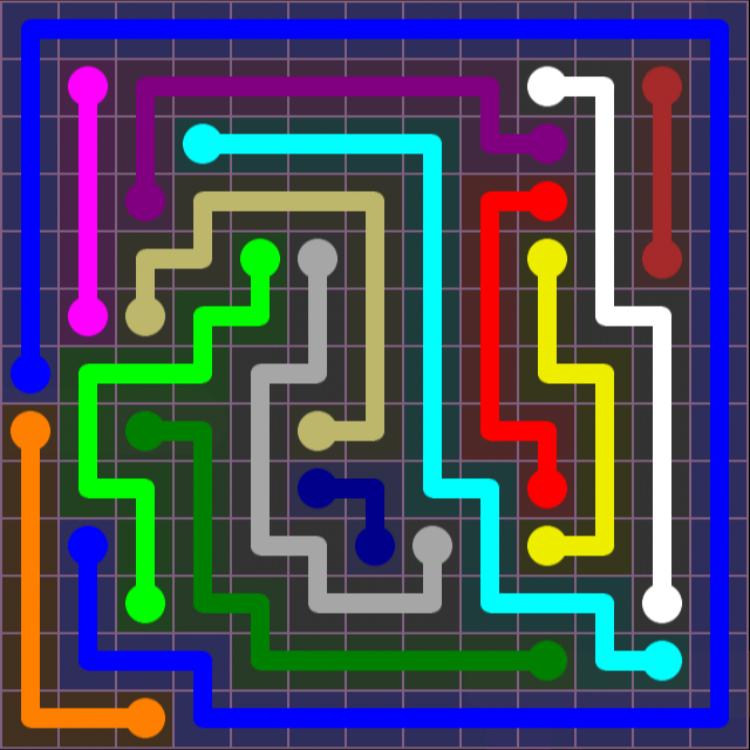 Flow Free – 13×13 Mania – Levels 61-90 – Level 66