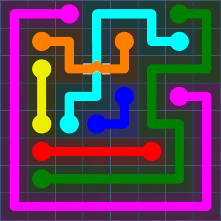 Flow Free Bridges – Challenge Pack – 8×8 – Levels 1-30 – Level 21