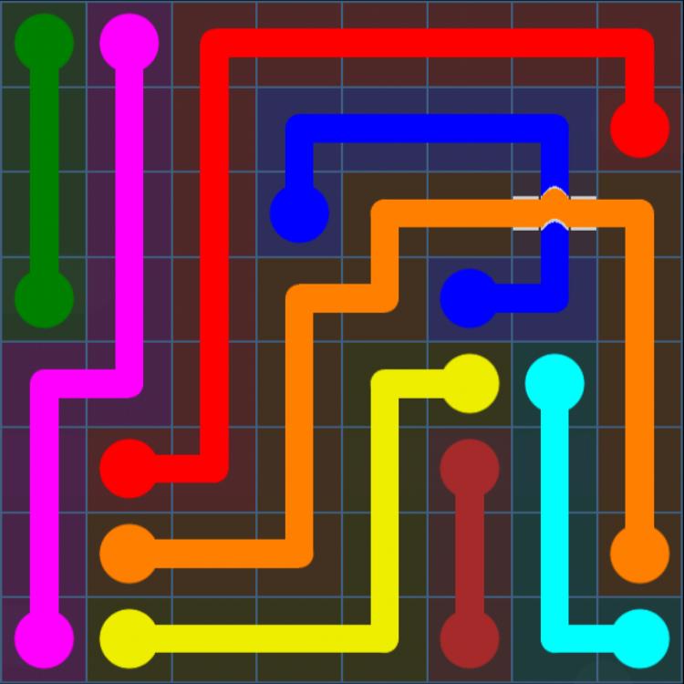 Flow Free Bridges – Challenge Pack – 8×8 – Levels 1-30 – Level 24