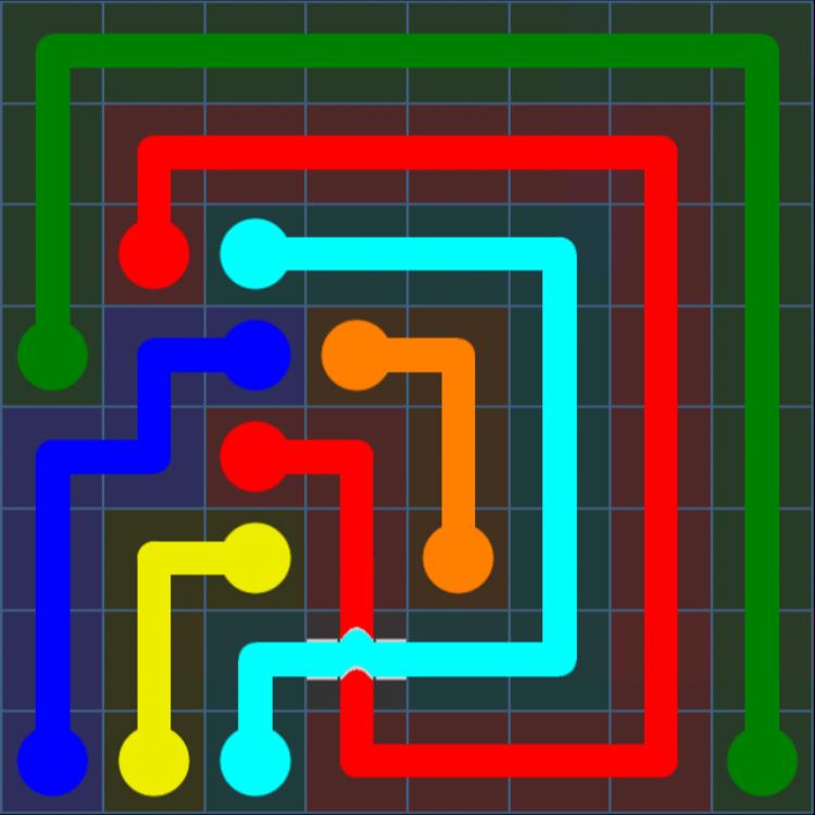 Flow Free Bridges – Challenge Pack – 8×8 – Levels 1-30 – Level 5