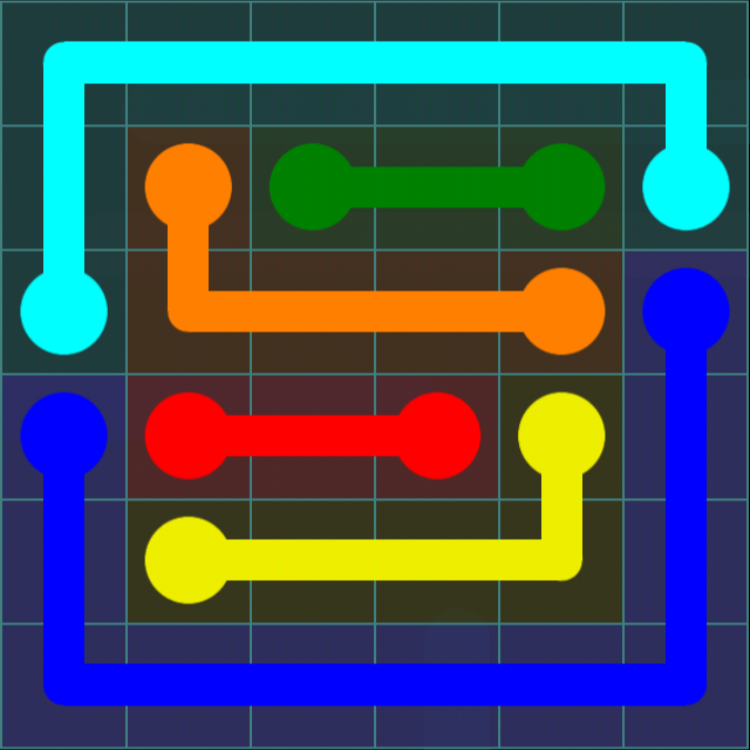 Flow Free – Interval Pack – Levels 1-30 – Level 8