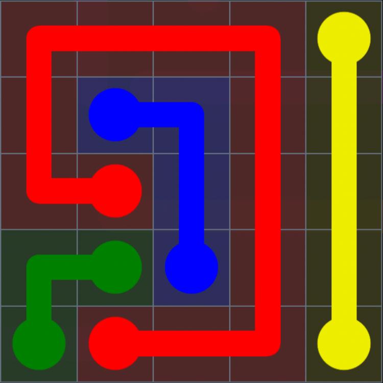 Flow Free – Rainbow Pack – Levels 1-30 – Level 25