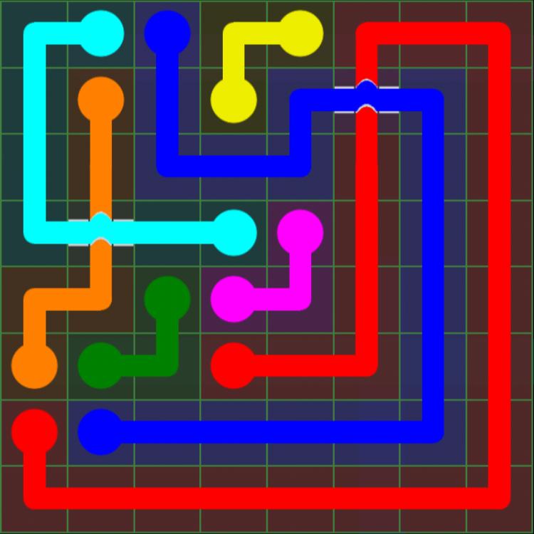 Flow Free Bridges – Classic Pack – 8×8 – Level 3