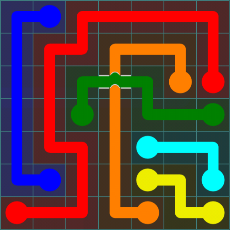 Flow Free Bridges – 7×7 Mania – Levels 61-90 – Level 67