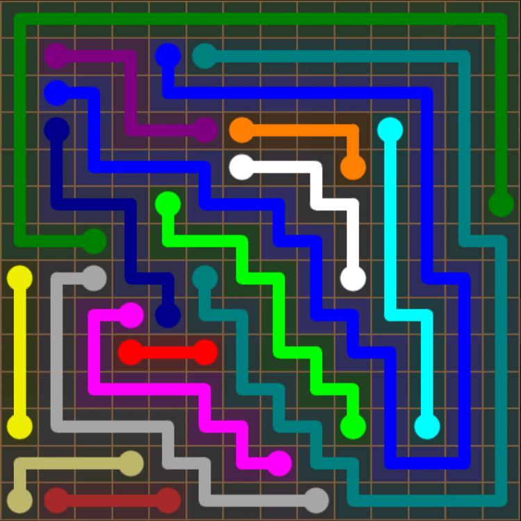 Flow Free – 14×14 Mania – Levels 1-30 – Level 13