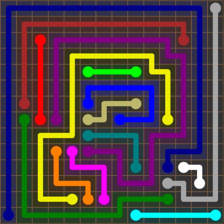 Flow Free – 14×14 Mania – Levels 31-60 – Level 58