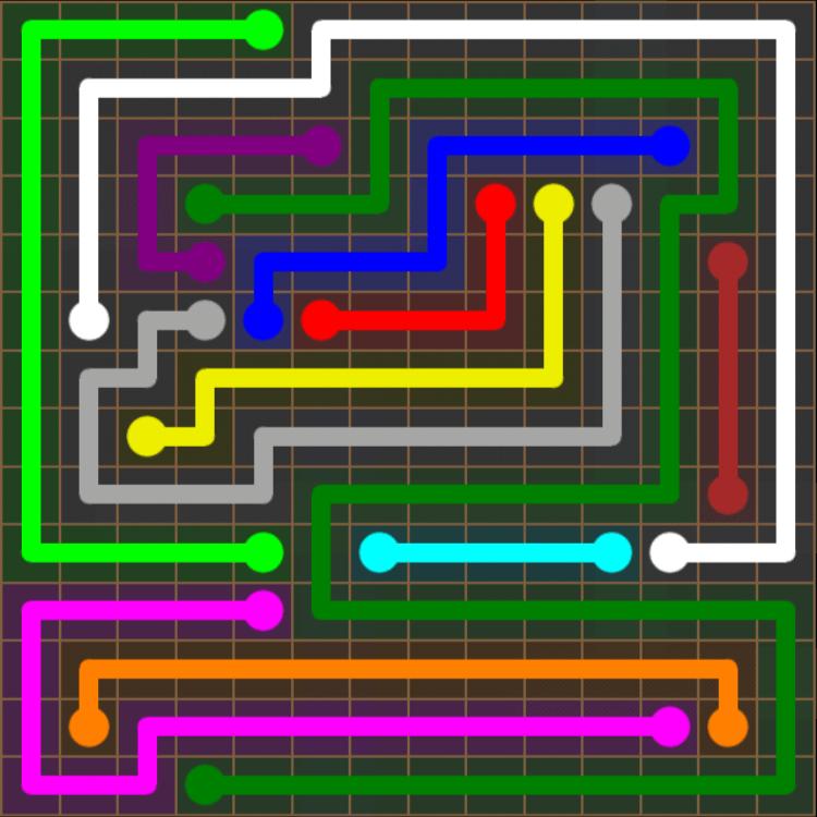 Flow Free – 14×14 Mania – Levels 91-120 – Level 118
