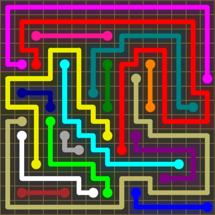 Flow Free – 15×15 Mania – Levels 1-30 – Level 12