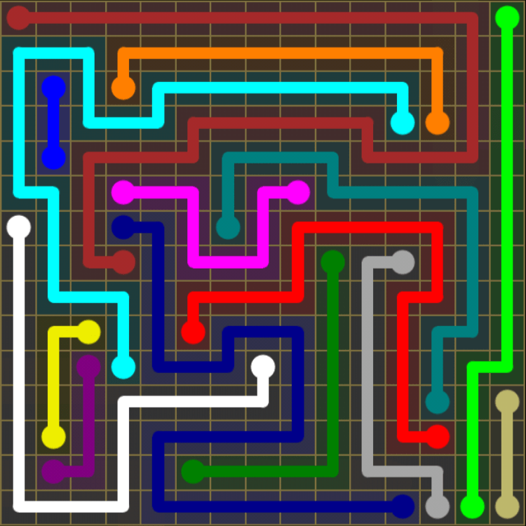 Flow Free – 15×15 Mania – Levels 1-30 – Level 8