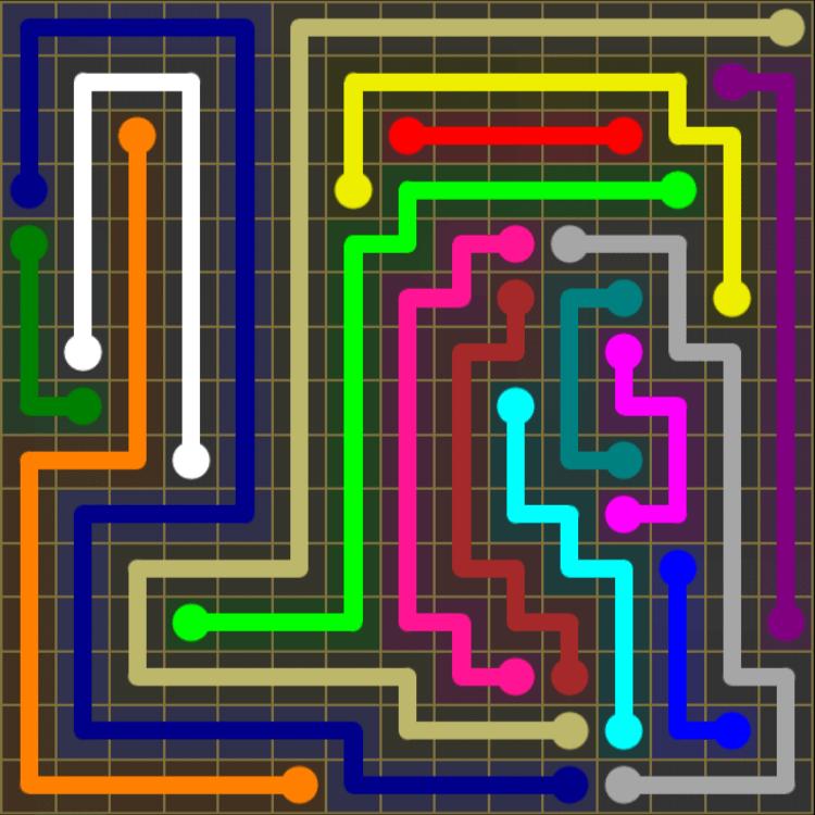Flow Free – 15×15 Mania – Levels 121-150 – Level 125