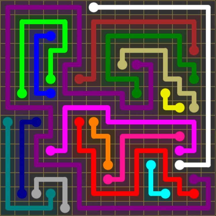 Flow Free – 15×15 Mania – Levels 31-60 – Level 46